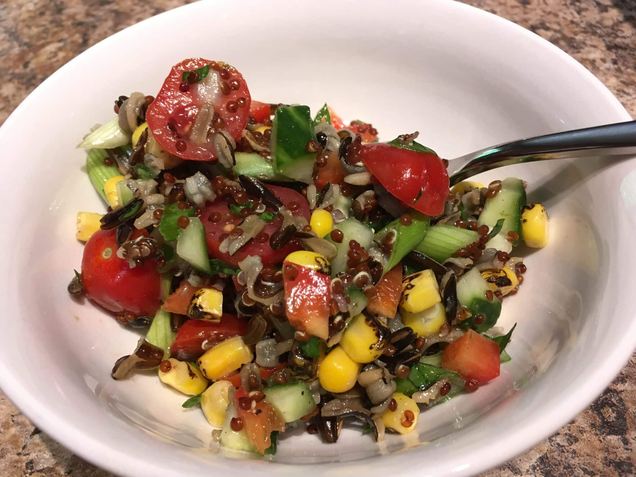 wild rice and vegetable salad