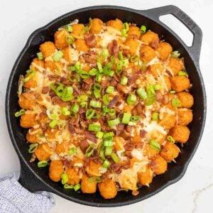 bacon cheeseburger sweet potato tater tot hotdish