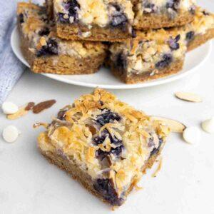 Blueberry White Chocolate Magic Cookie Bars