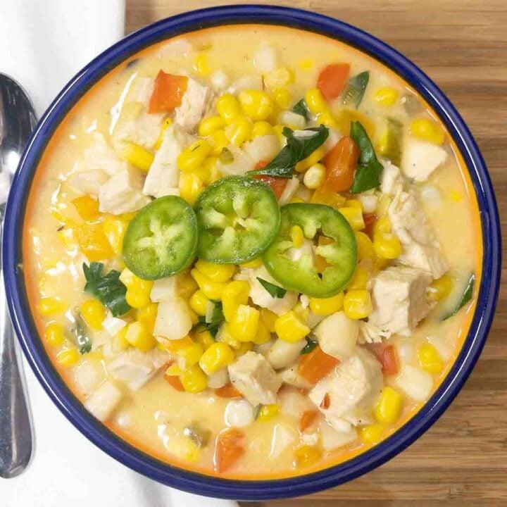 healthy chicken corn chowder