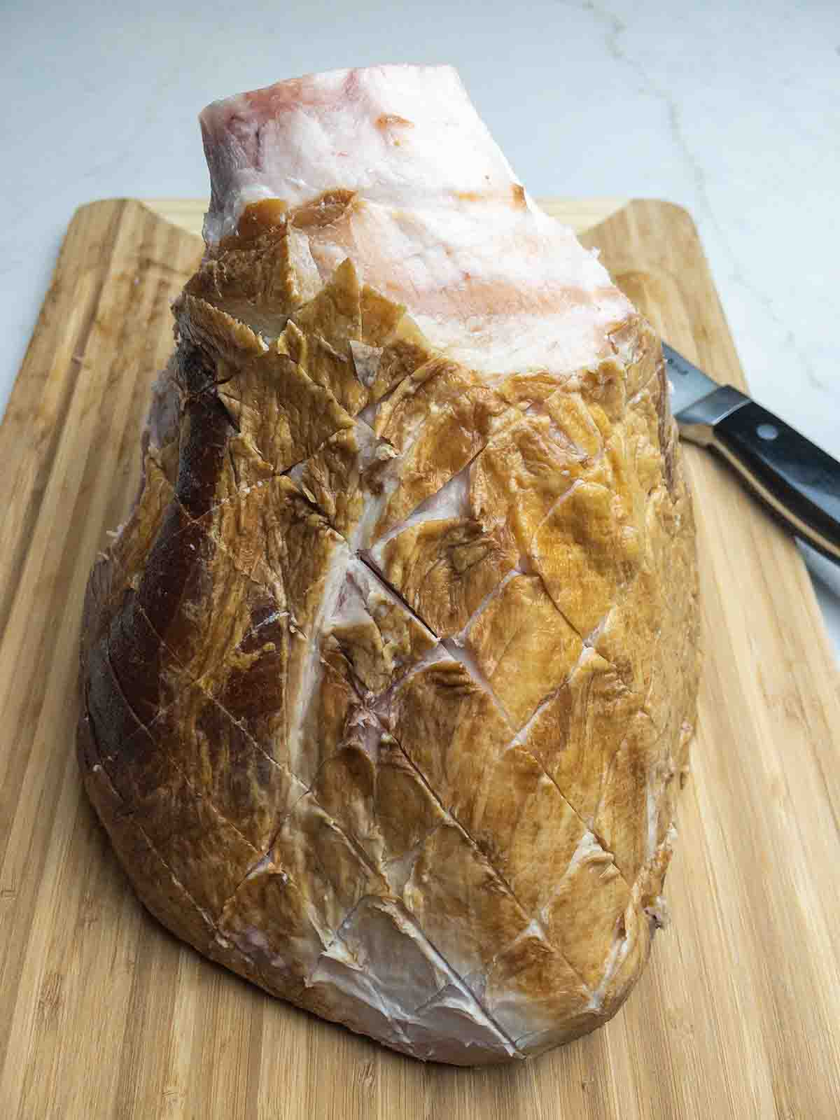Maple Bourbon Glazed Ham