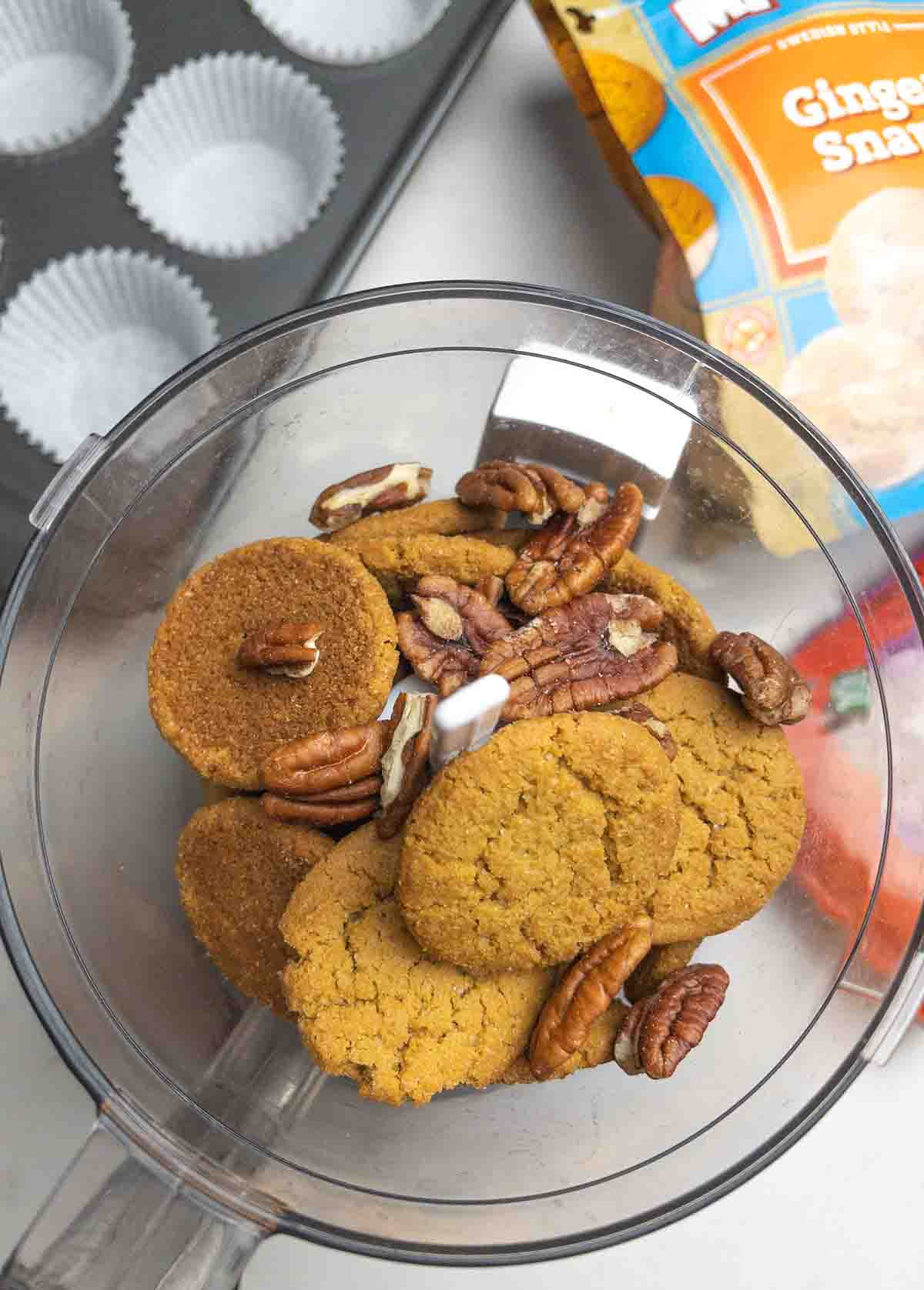 Mini Pumpkin Pies with Gingersnap Crust (Gluten Free Dairy Free)