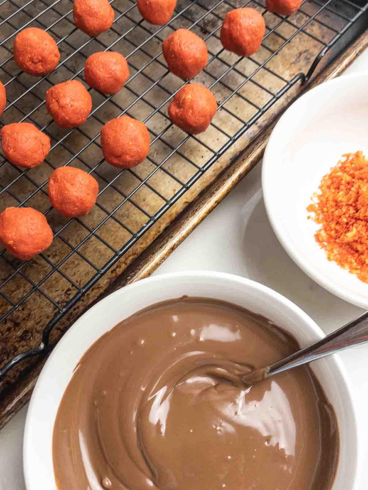 Flamin' Hot Cheetos Balls