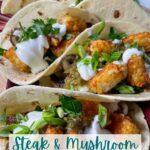 steak and mushroom tacos