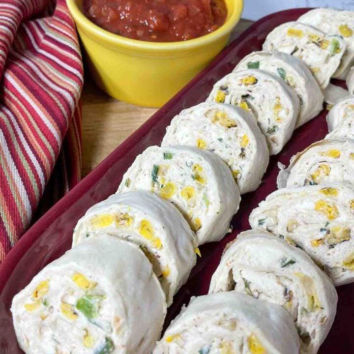 Mexican Street Corn Pinwheel Appetizers