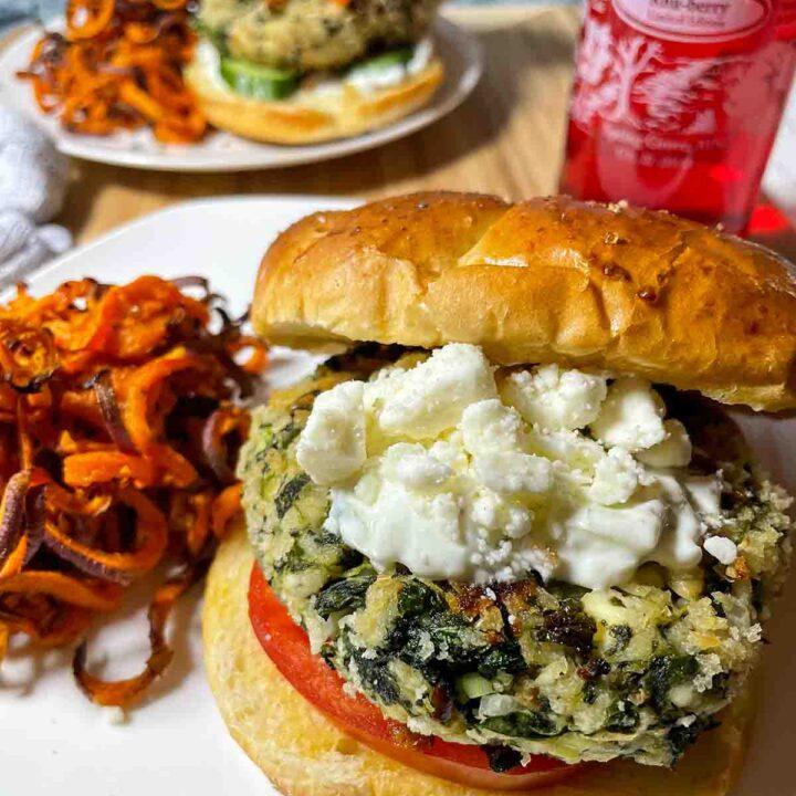 Spinach & White Bean Veggie Burgers