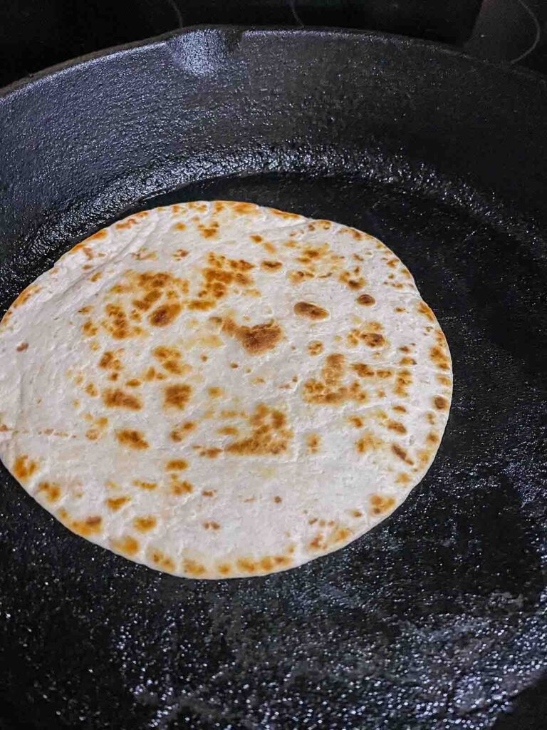 how to toast a flour tortilla