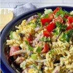 Southwestern Pasta Salad with Avocado Dressing