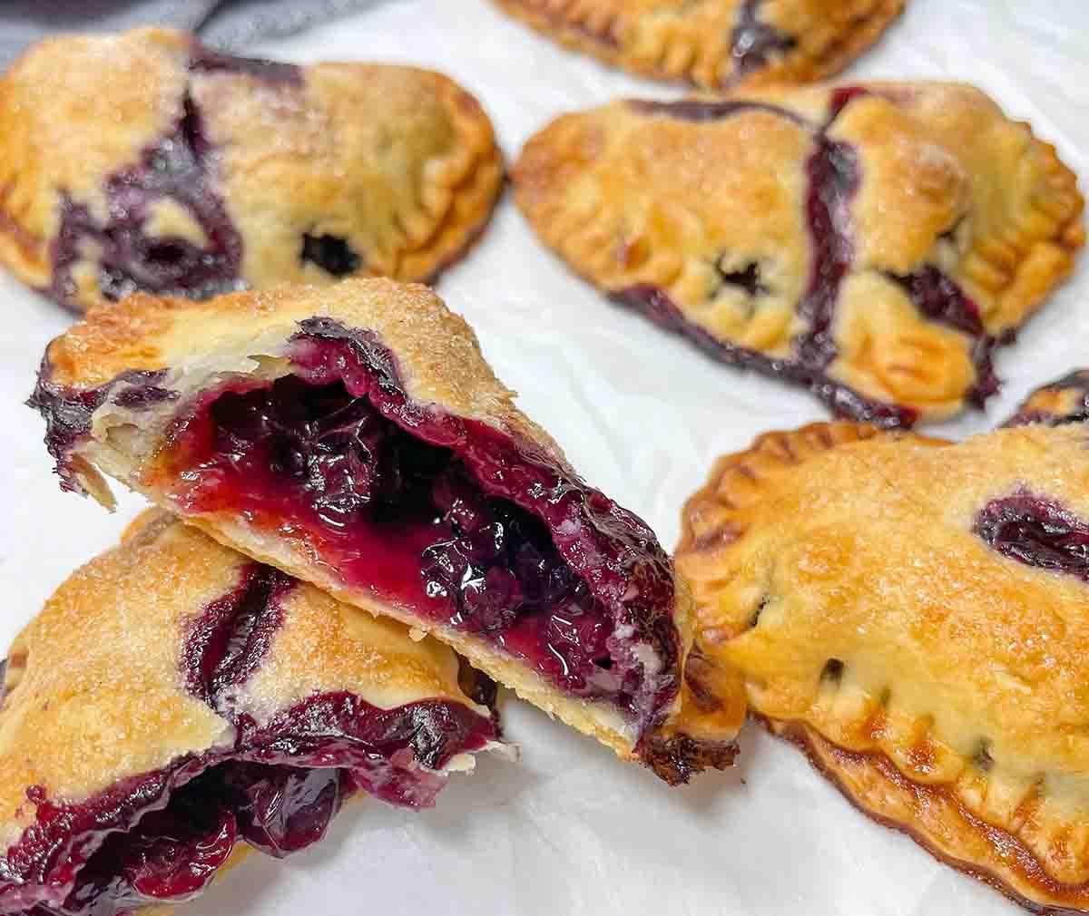 Mini Blueberry Pies