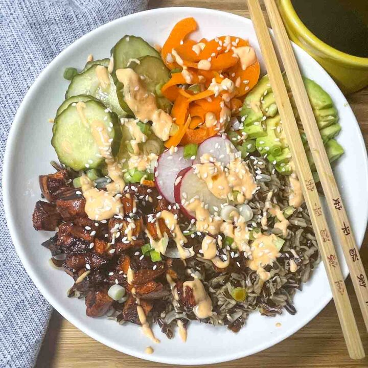 wild rice sushi bowl