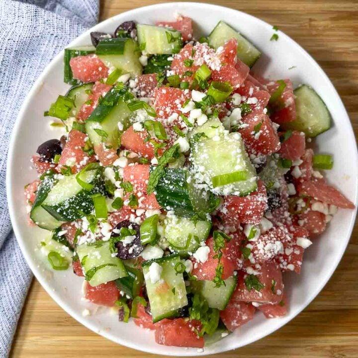 Watermelon Cucumber Salad with Feta