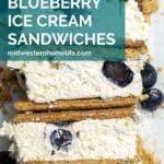 Lemon Blueberry Graham Cracker Ice Cream Sandwiches