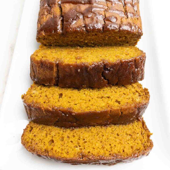 Gluten-Free Pumpkin Bread with Cinnamon Glaze