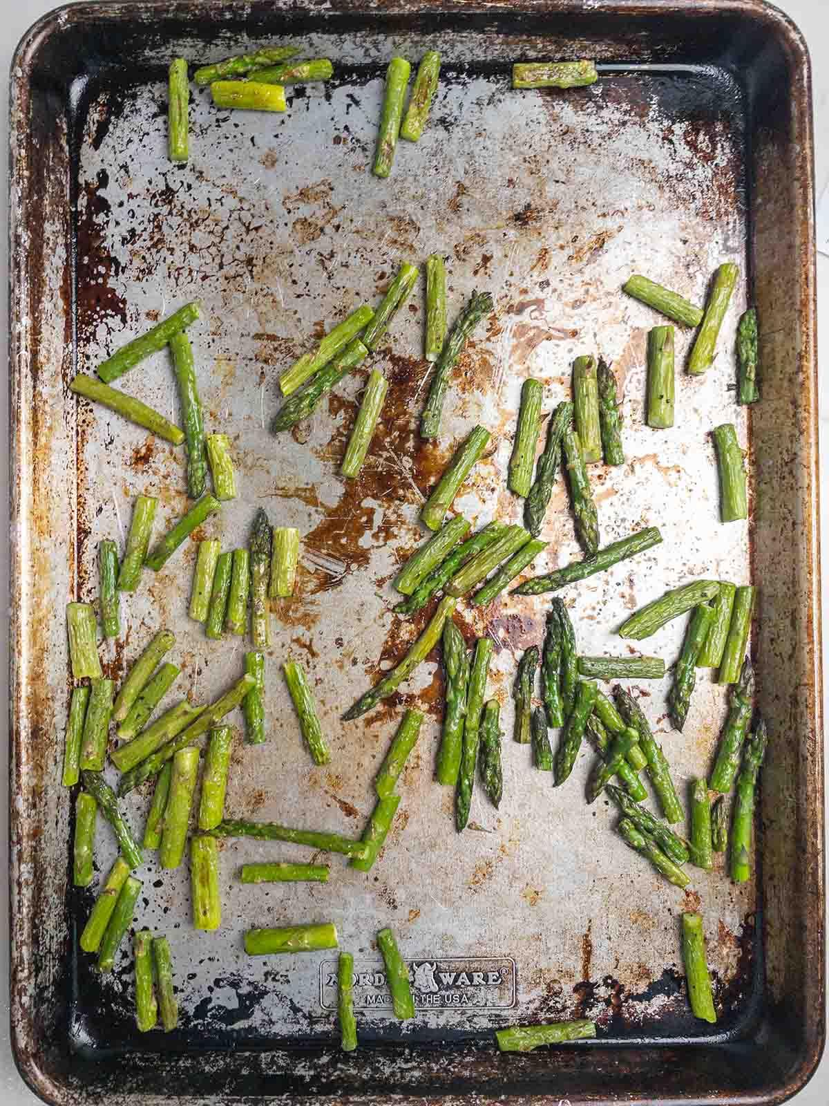 Roasted Pea and Asparagus Salad