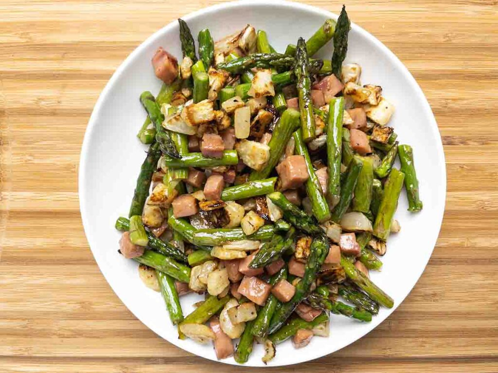 Roasted Turnip and Asparagus Salad with Warm Vinaigrette